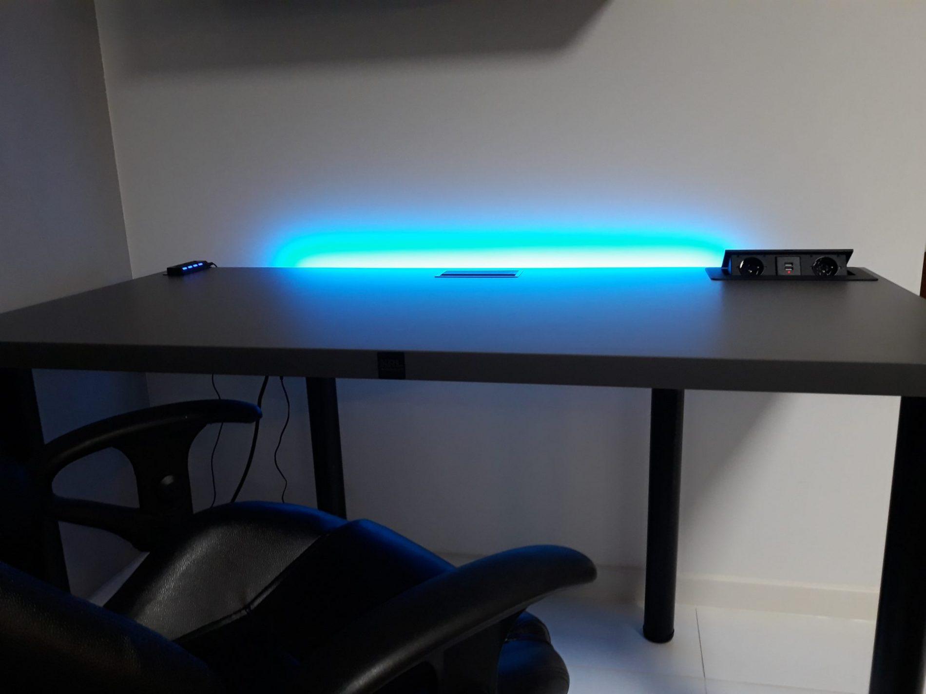 biurka gamingowe z ledem krl