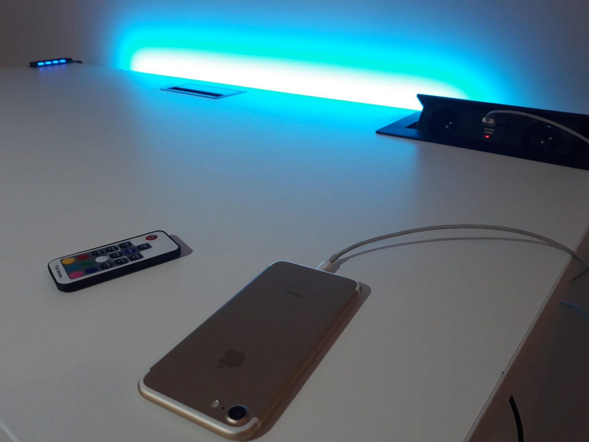 biurko gamingowe krl led komputerowe gniazdo usb