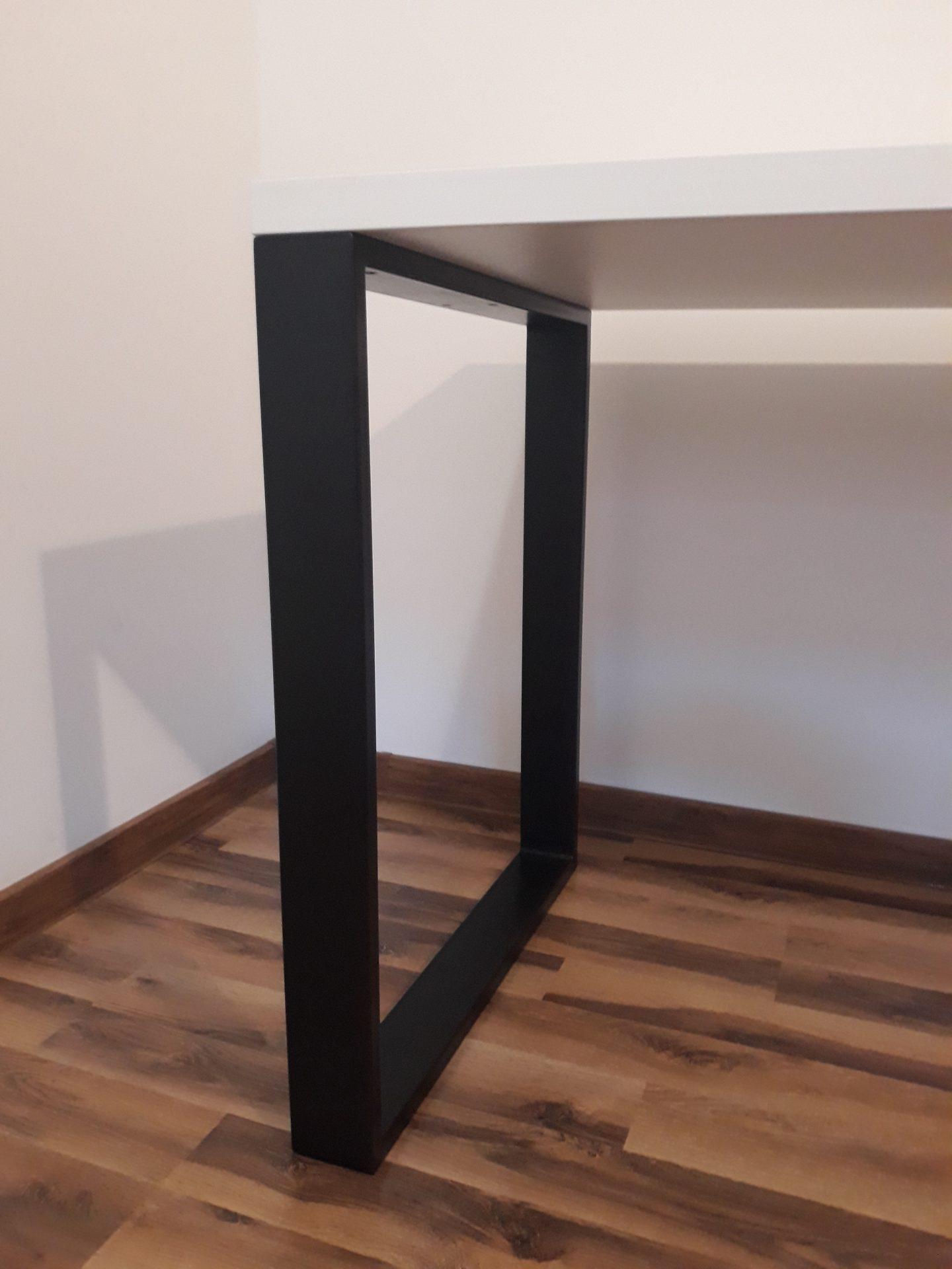 noga stalowa biurko modern edition białe gaming i biuro