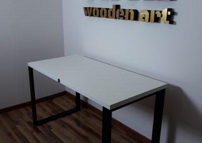biurko modern kolor biały