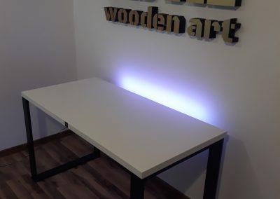 biurko loft modern białe