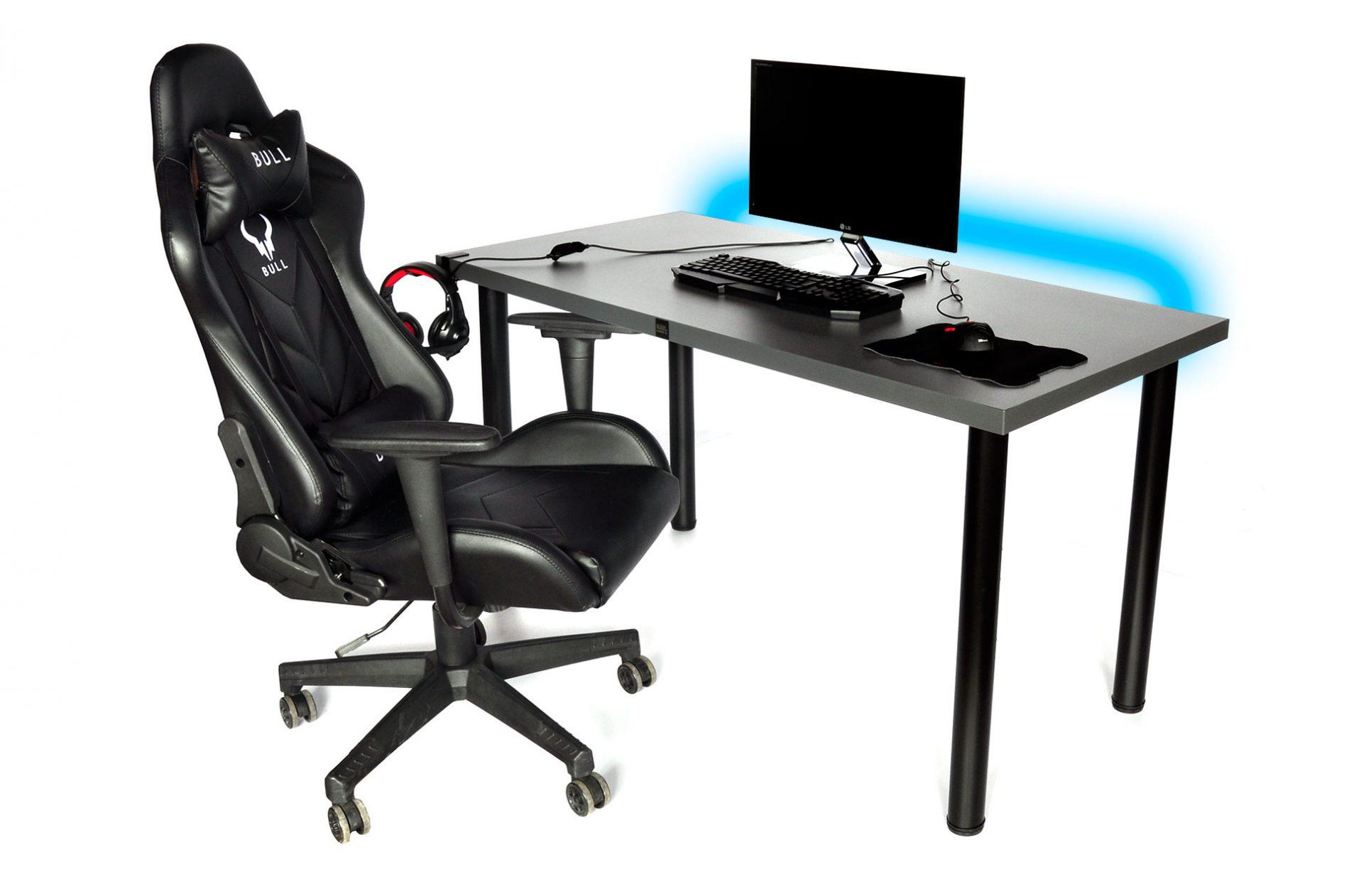 biurko gamingowe pro gamer firmy krl led usb duże