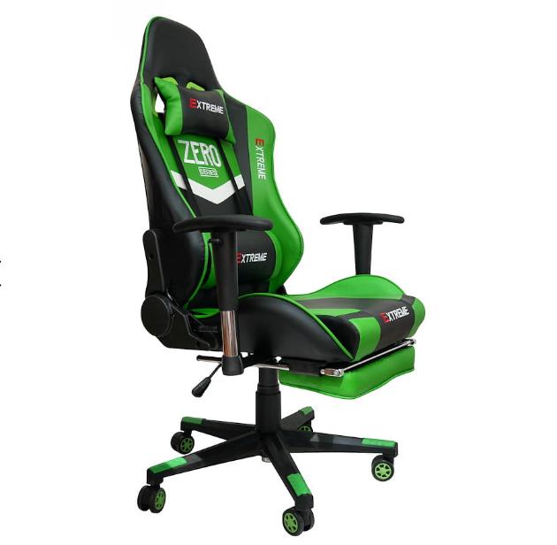 fotel dla graczy gamingowy z podnóżkiem