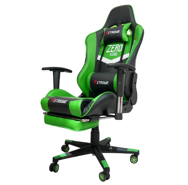 fotel gamingowy z podnóżkiem